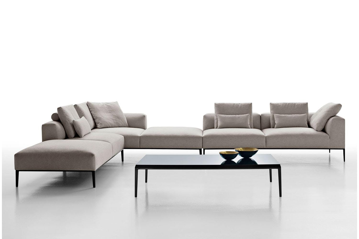 michel effe sofa by antonio citterio for b b italia space furniture. Black Bedroom Furniture Sets. Home Design Ideas