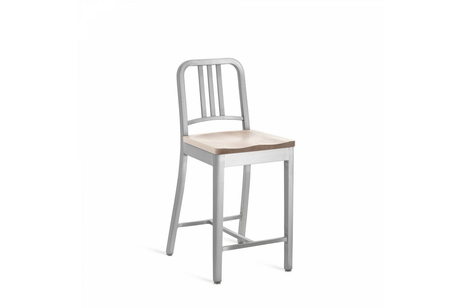 1104 Navy Stool by Emeco