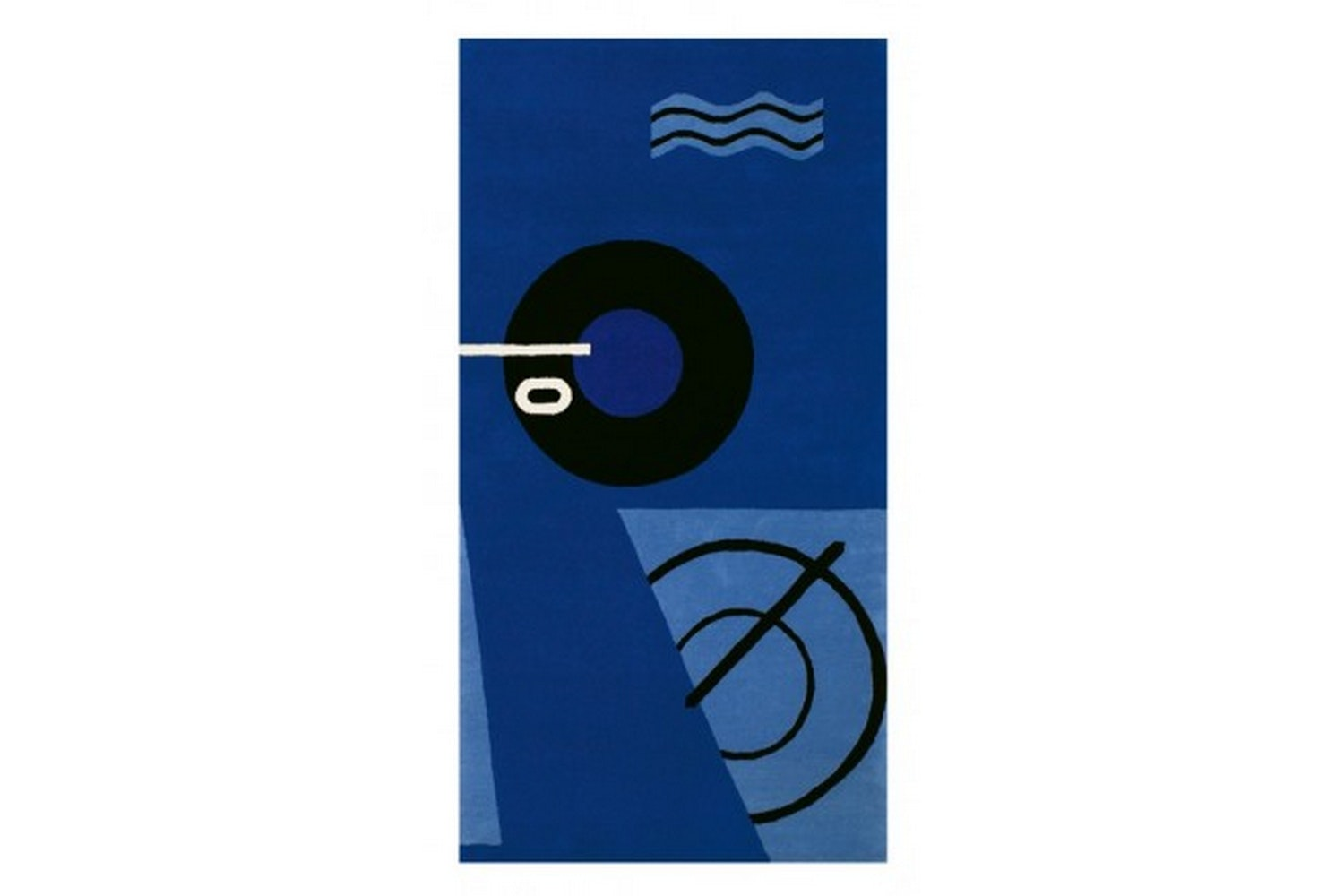 Blue Marine Rug by Eileen Gray for ClassiCon