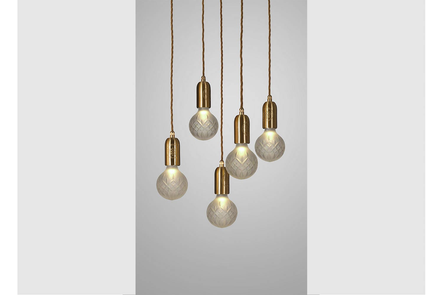 Frosted crystal bulb chandelier 5 piece brushed brass by lee broom frosted crystal bulb chandelier 5 piece brushed brass by lee broom space furniture aloadofball Gallery