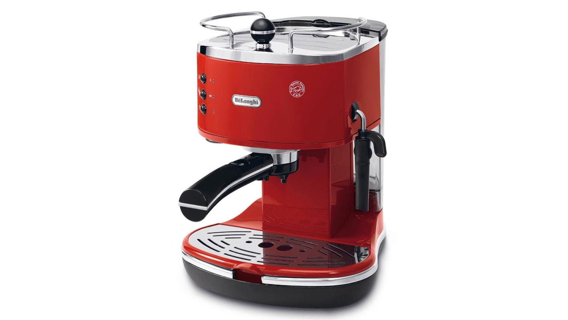 delonghi icona pump espresso machine red harvey norman. Black Bedroom Furniture Sets. Home Design Ideas