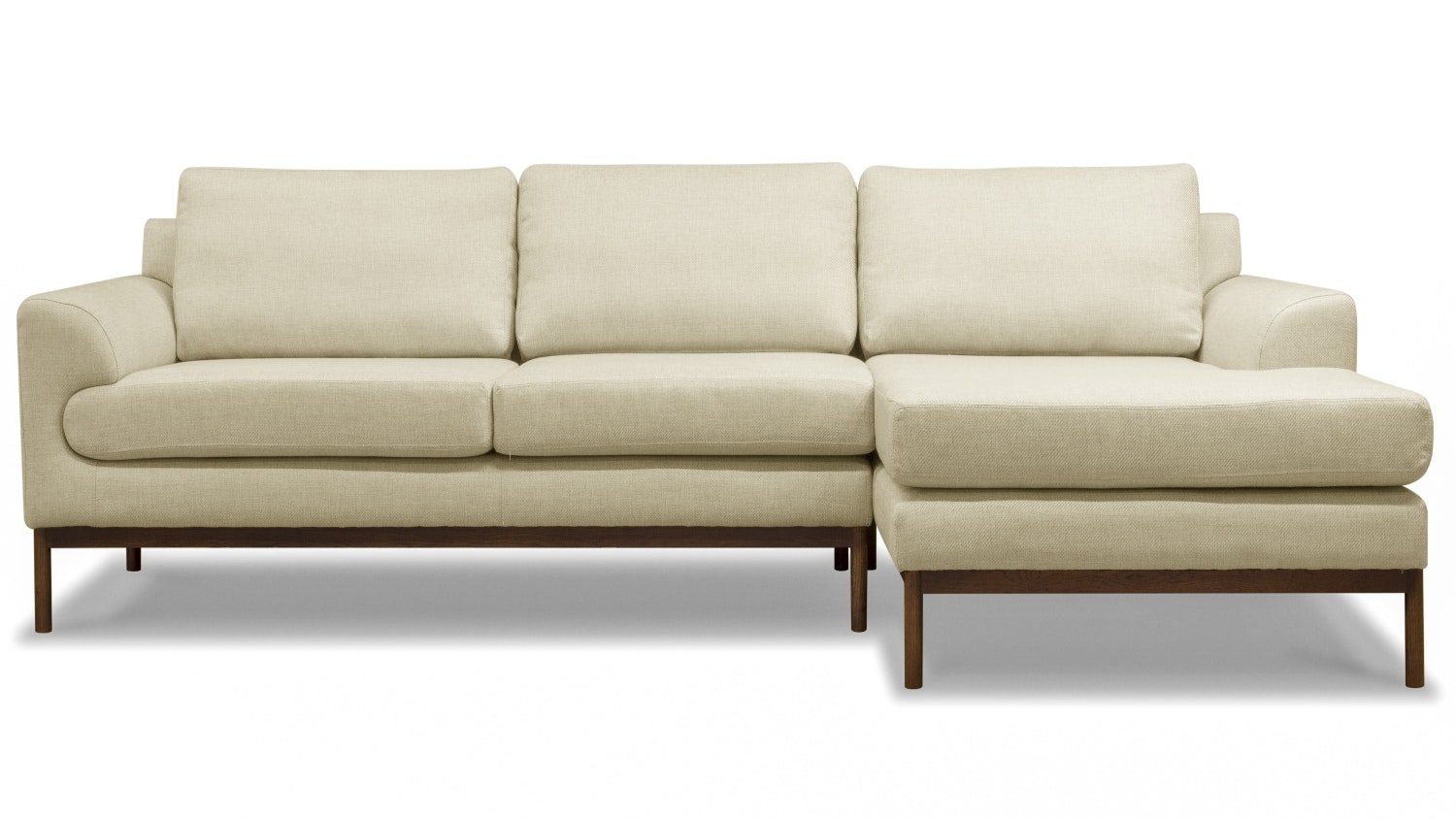 Stockholm 3 Seater Sofa with Chaise Beige