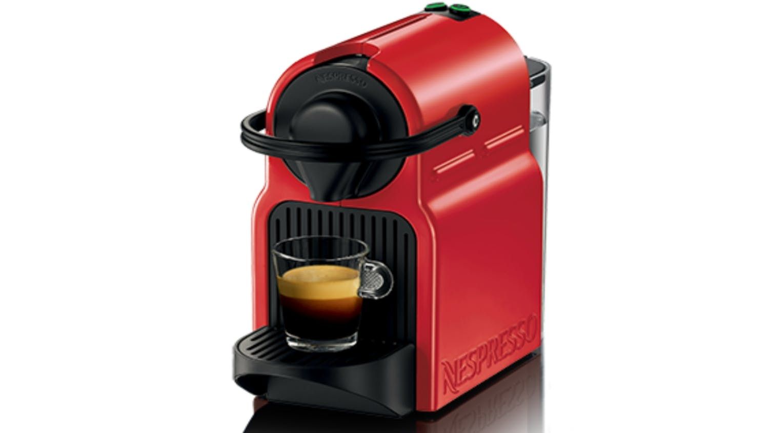 nespresso inissia coffee machine ruby red harvey. Black Bedroom Furniture Sets. Home Design Ideas