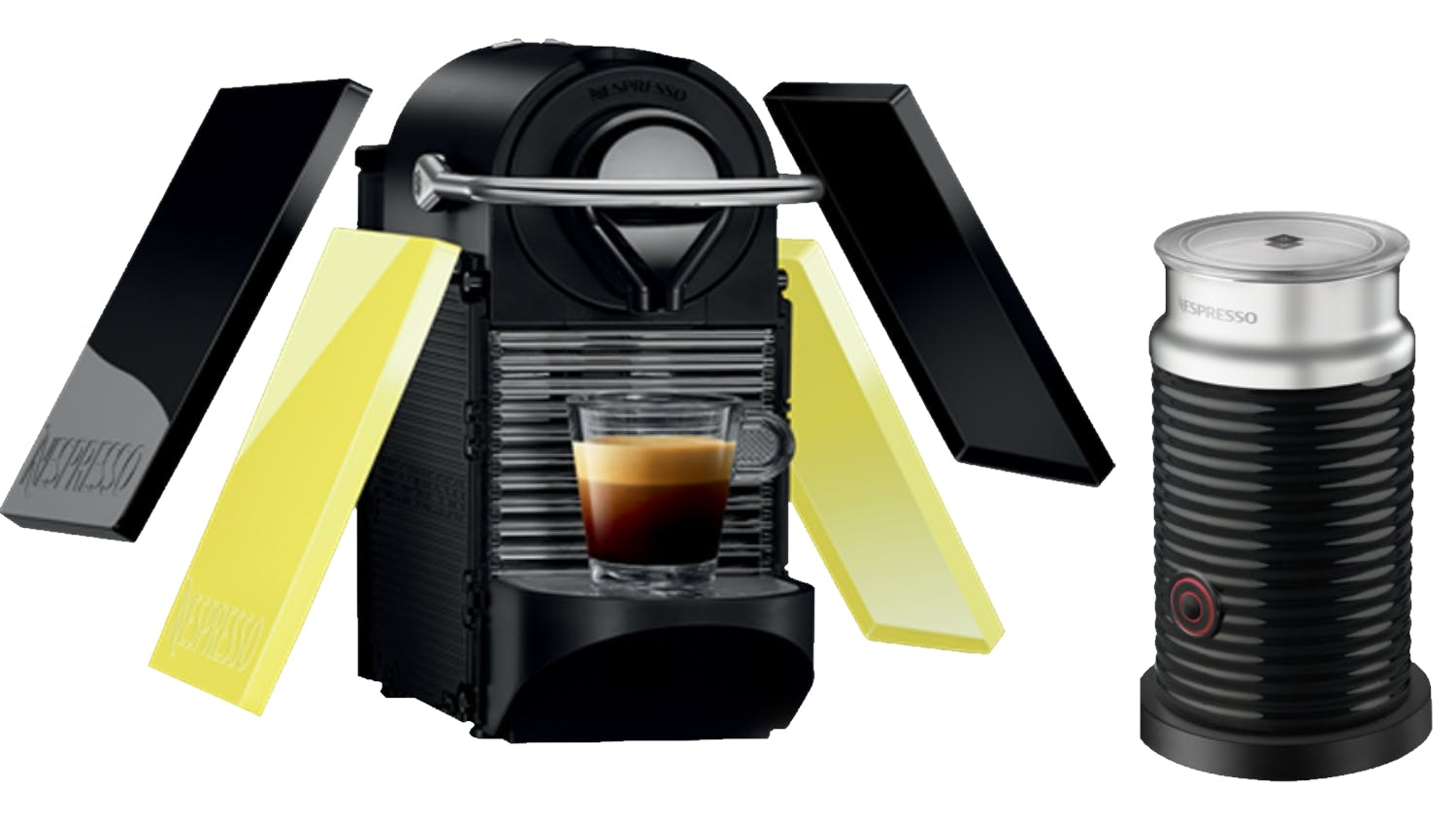 nespresso pixie clips coffee machine and aeroccino bundle. Black Bedroom Furniture Sets. Home Design Ideas