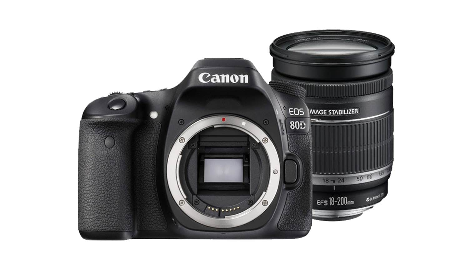 Canon DSLR EOS-80D Kit II with EF-S 18-200MM IS USM Lens