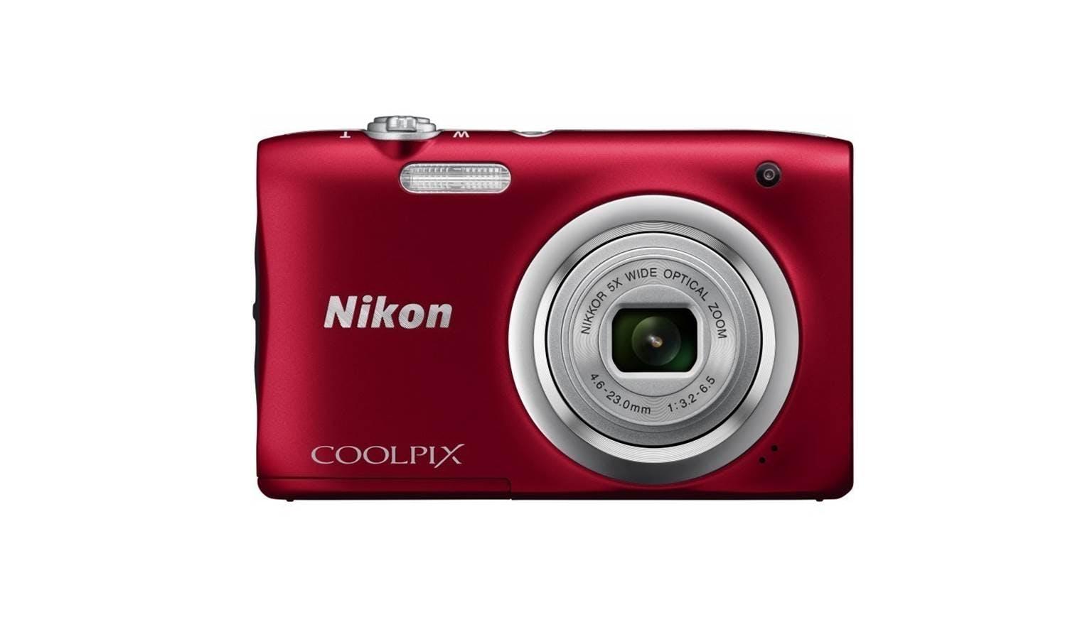 Nikon Coolpix A100 Digital Camera Red Harvey Norman