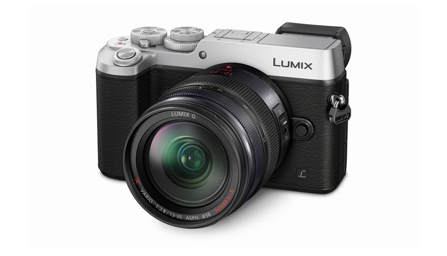 Panasonic Lumix G Dmc Gx8agc S Dslm Camera With 12 35mm Lens Kit X Vario F 28 Asph Power Ois H Hs12035e Silver