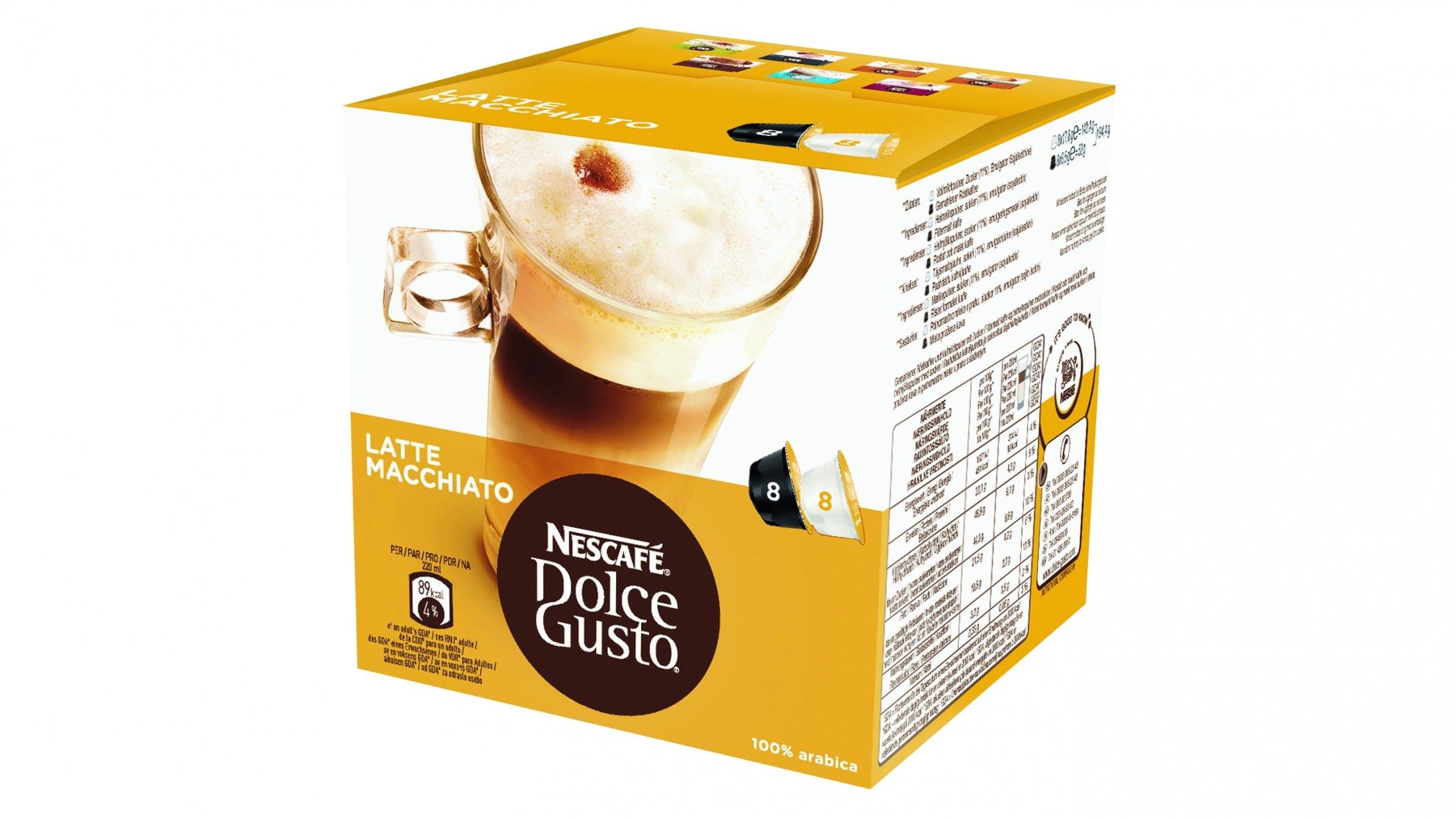 Nescafe dolce gusto latte macchiato coffee capsule - Porte capsules dolce gusto ...
