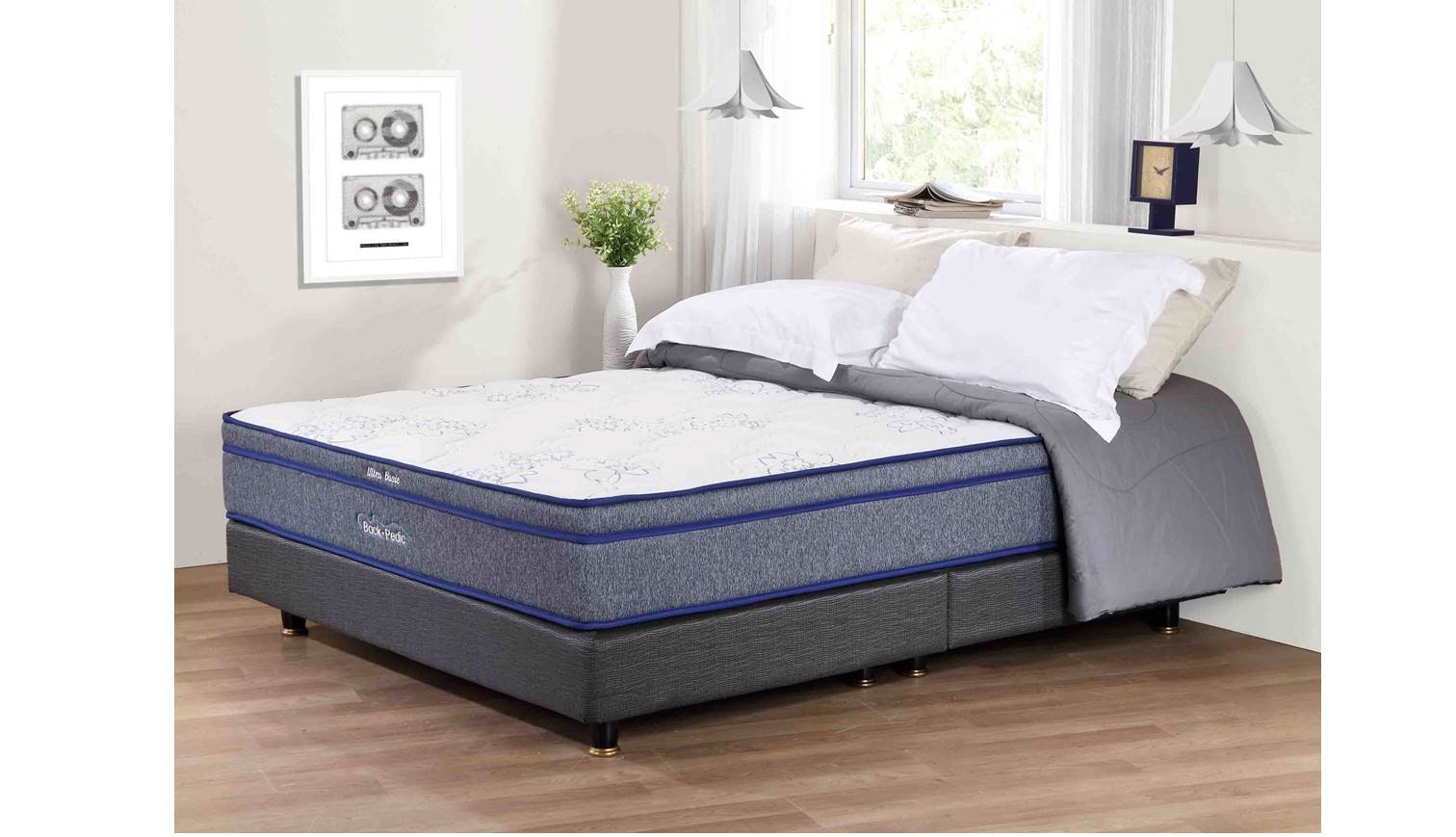Backpedic Ultra Basic Queen Size Latex Pocketed Spring Mattress