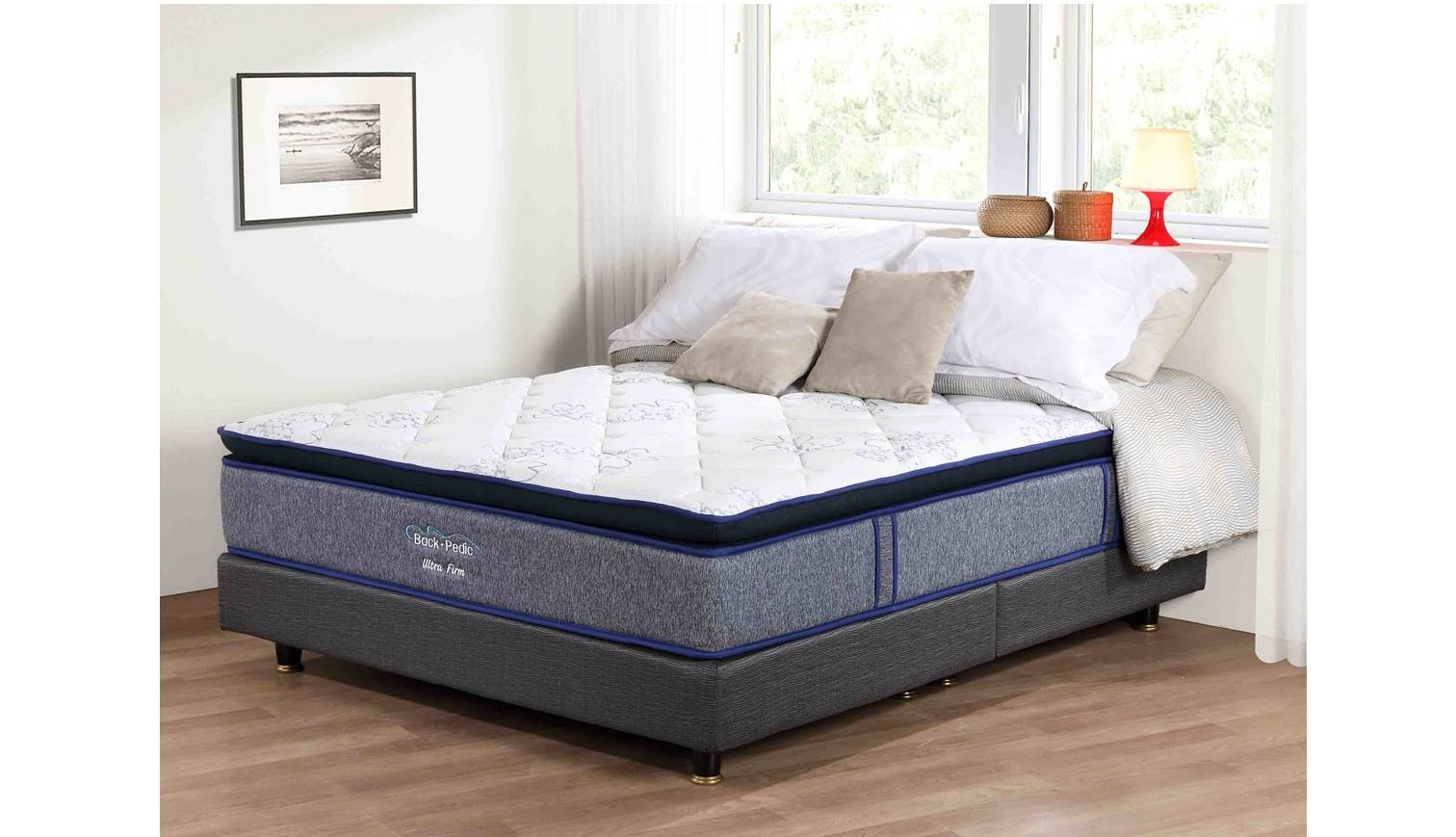 Backpedic Ultra Firm Queen Size Pocketed Spring Mattress Also