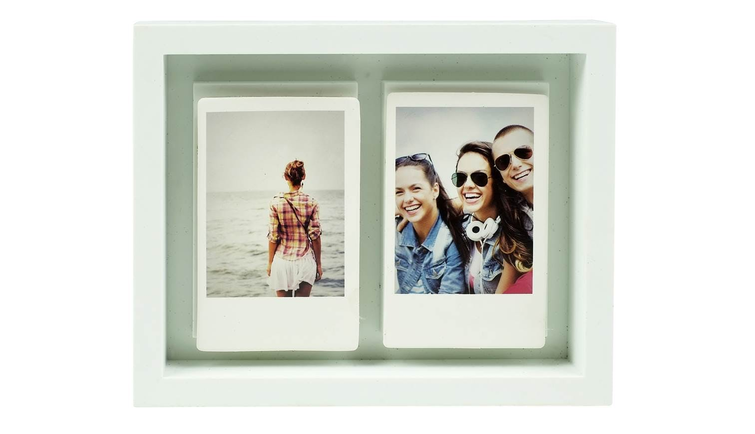 Fujifilm Instax Magnet Shadowbox Two Print Frame White