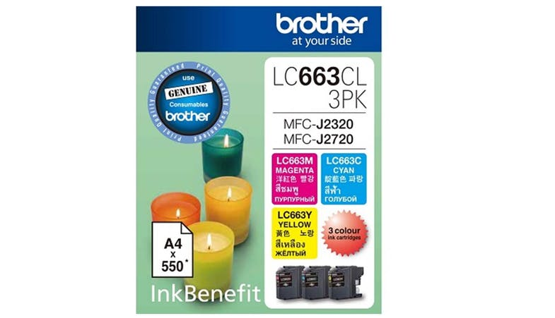 Brother LC-663CL 3-Pack Ink Cartridge - CMY-01