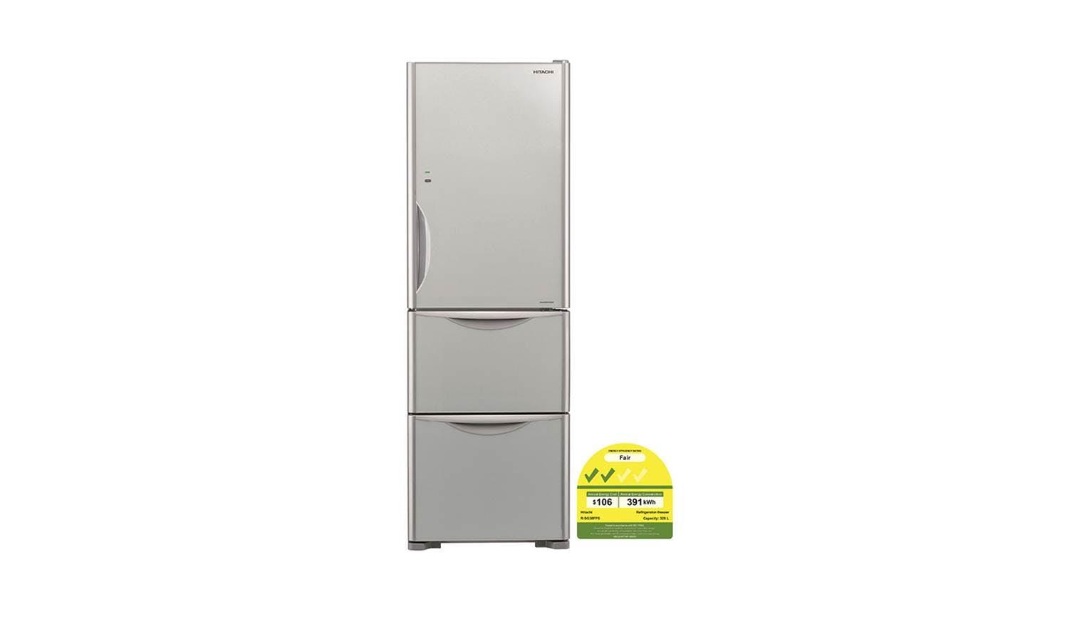 Hitachi R Sg38fps Solfege Series 357l 3 Door Refrigerator
