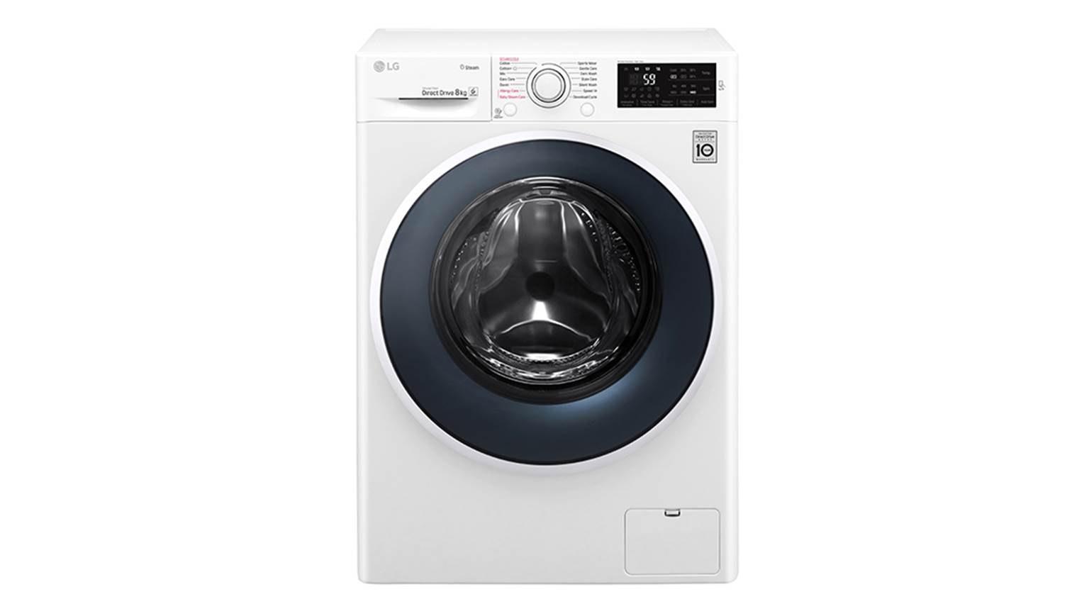 lg fc1408s4w 8kg 6 motion inverter direct drive washer