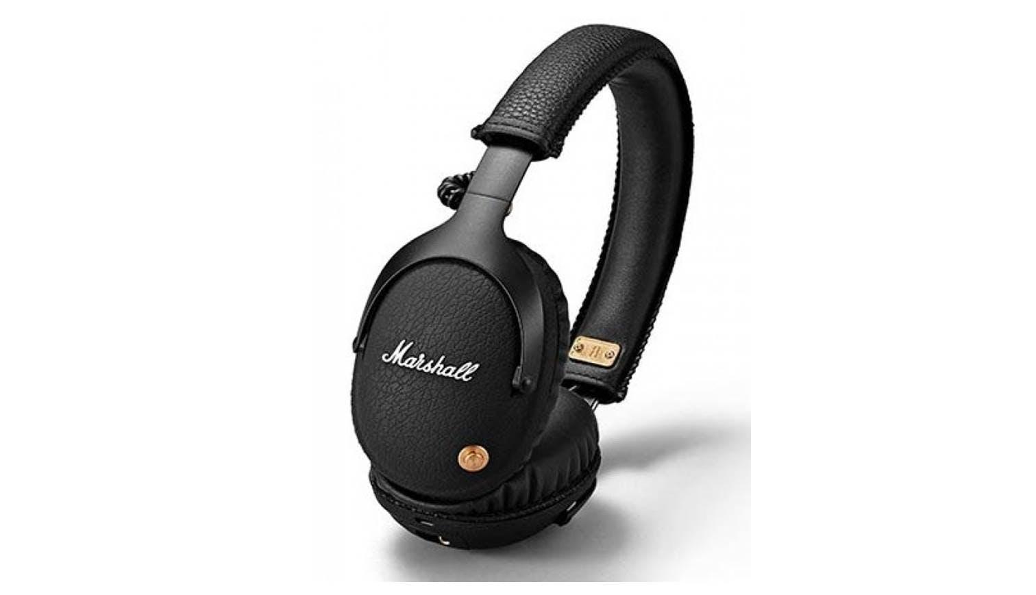 marshall monitor bluetooth over ear headphone black. Black Bedroom Furniture Sets. Home Design Ideas