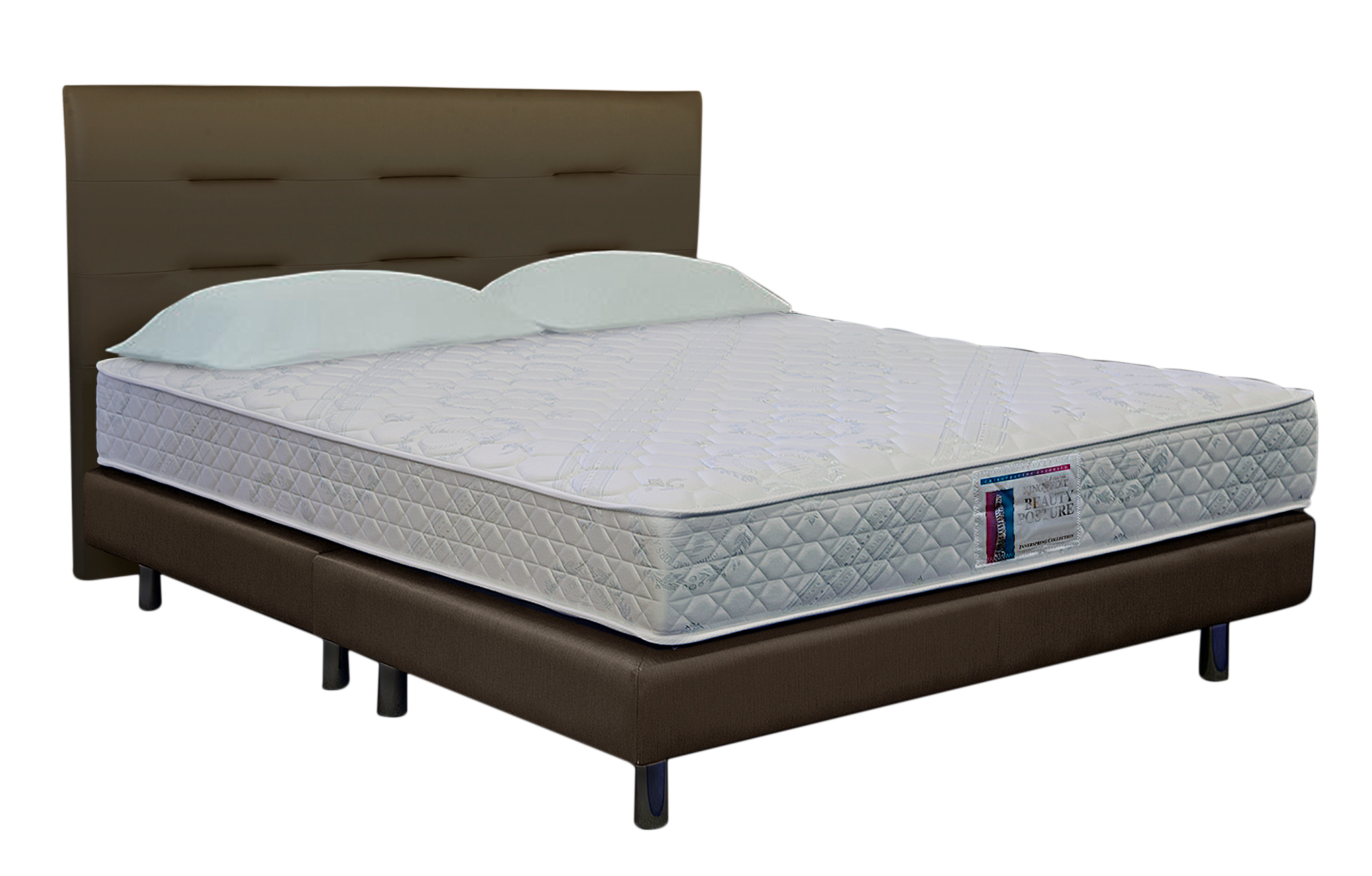 King Koil Beauty Posture Classic Queen Size Spring Mattress with Free BE Bedstead & BB Headboard