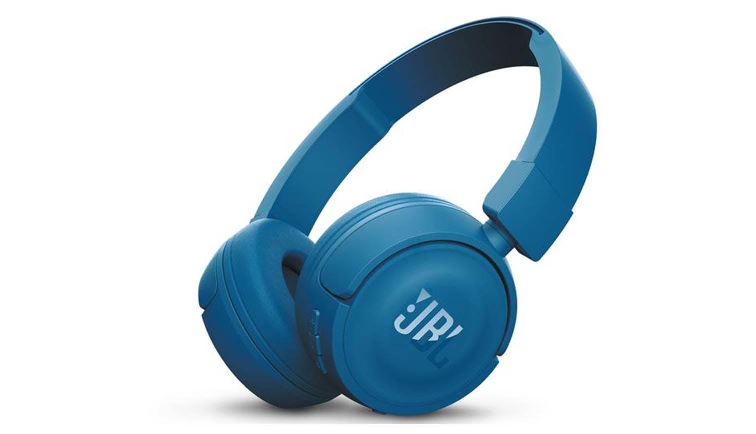 53180b760b4 JBL T450 Bluetooth On-Ear Headphones - Blue | Harvey Norman Singapore