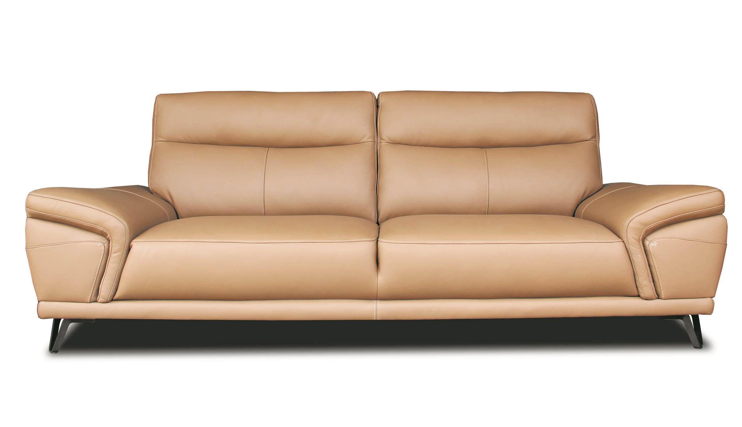 Hilker kingdom 3 seater leather sofa harvey norman singapore for Sofa 7 seater