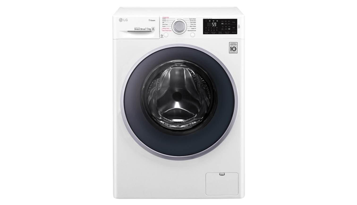 Lg Fc 1475s4w 7 5kg Front Load Washer Harvey Norman