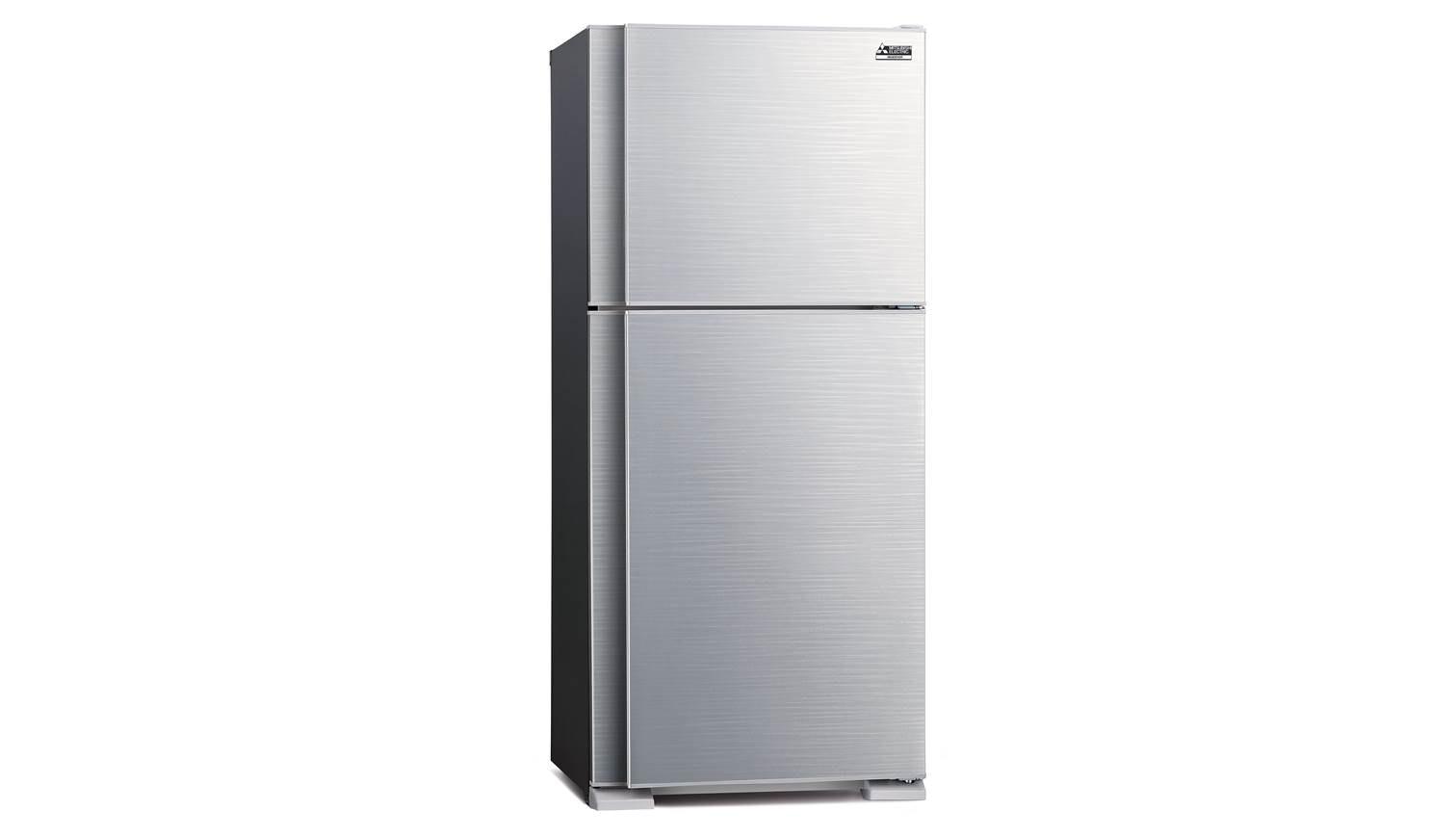 mitsubishi mr f42eg slw p 2 door refrigerator silver