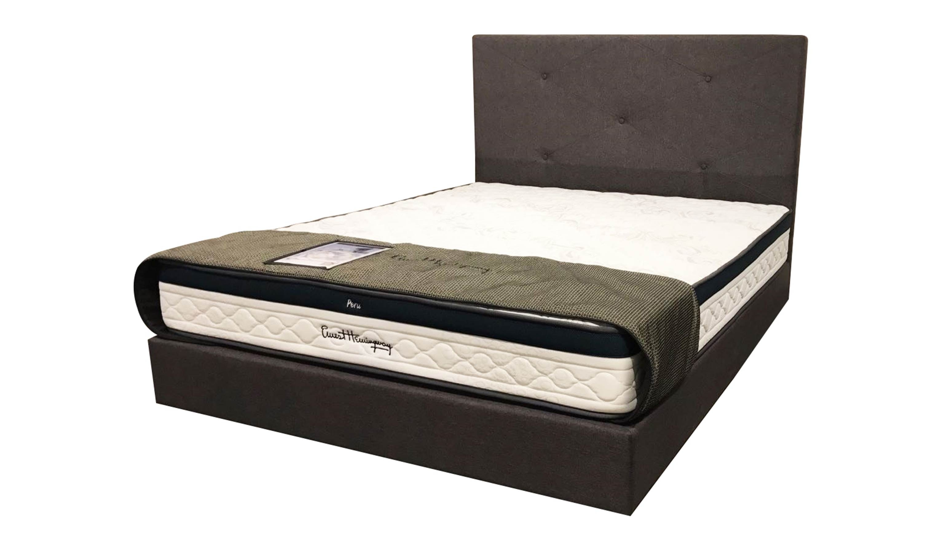 USA-Brand-Queen-Size-Mattress-​Hastings-Fabric-Queen-Size-Bedframe