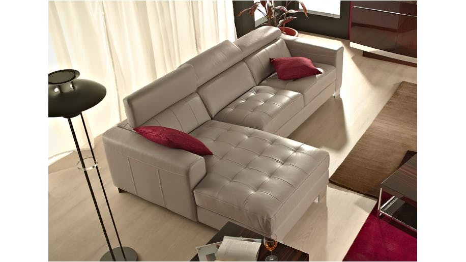 Saporini gloria full leather 2 5 seater sofa with chaise for 2 seater chaise lounge