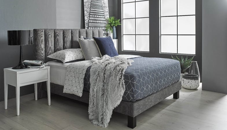 Atherton Queen Size Bed Frame in Fabric Upholstery