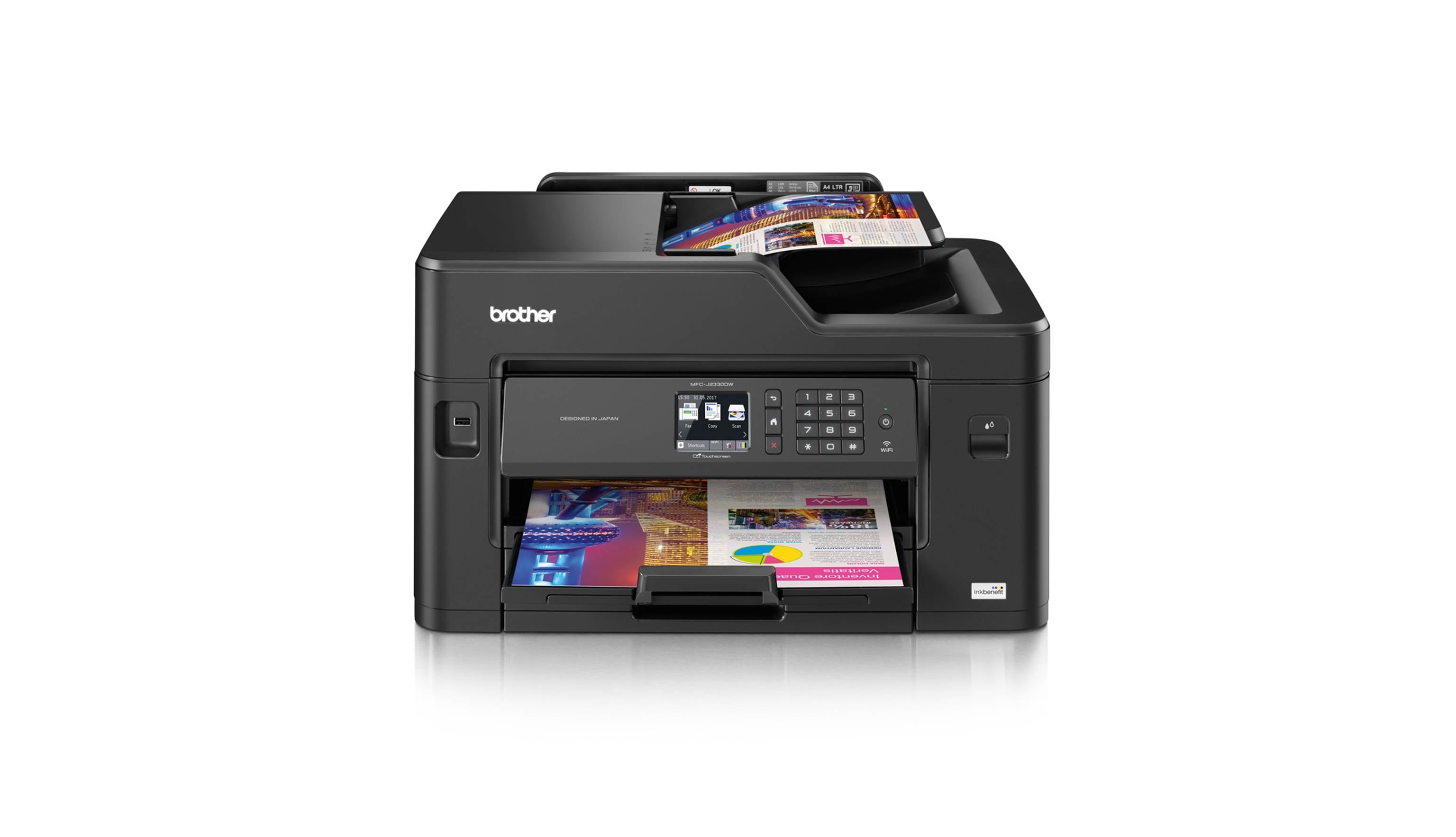 Brother Wireless Inkjet MFC-J2330DW All-in-one Printer- Front View.jpg