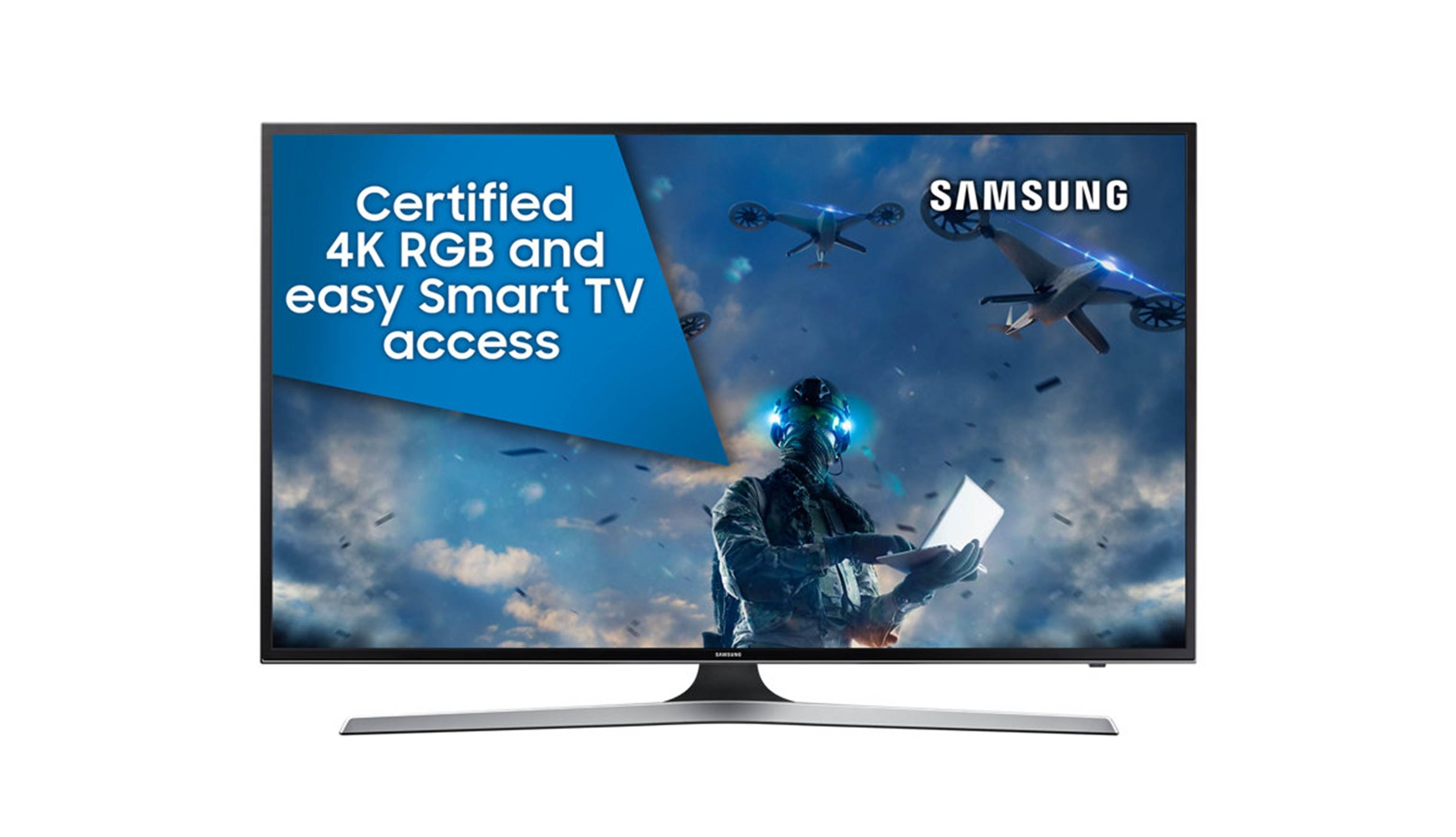 "Samsung UA-MU6100 43"" Ultra HD 4K Smart TV -Front View"