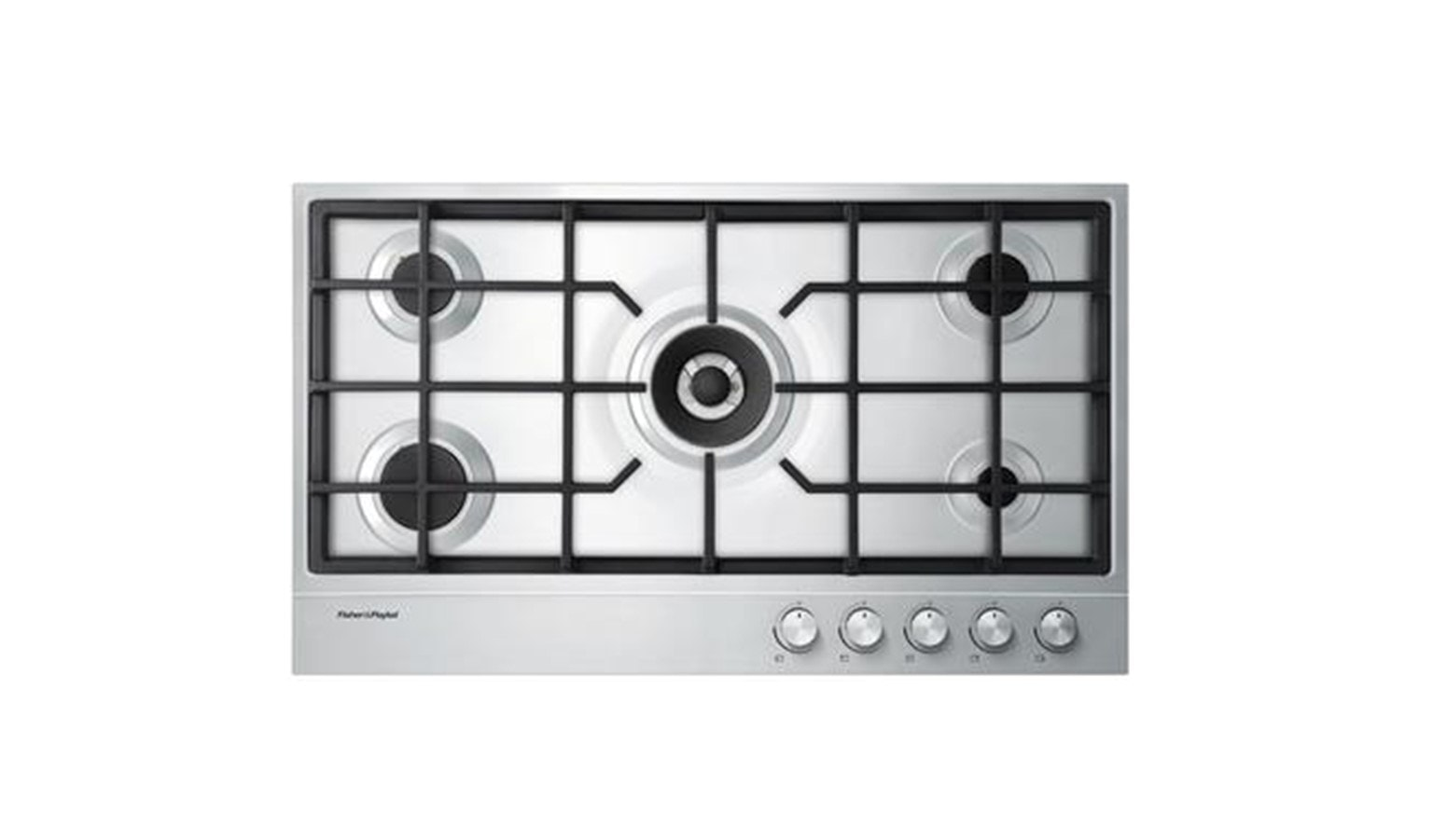 Fisher & Paykel 90cm Gas on Steel Cooktop - Stainless Steel-01