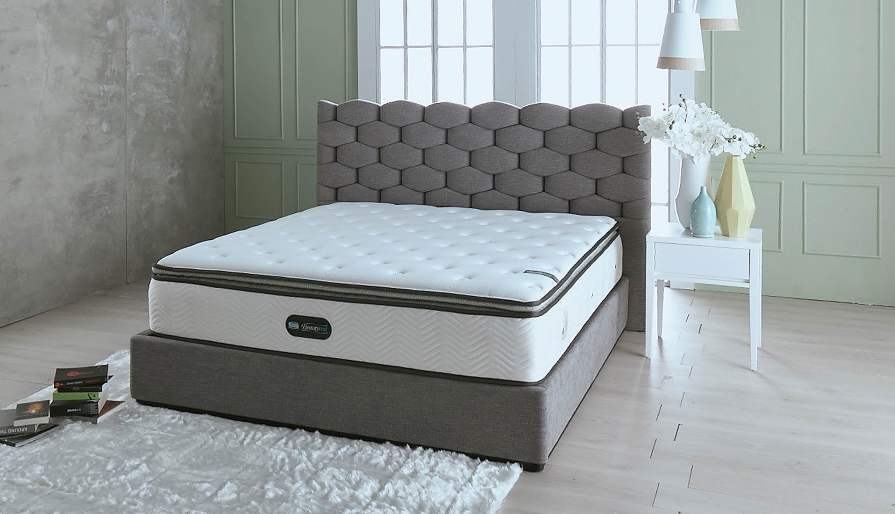 queen maddyn mattress plush set today shipping select overstock garden size rest beauty factory home product beautyrest free