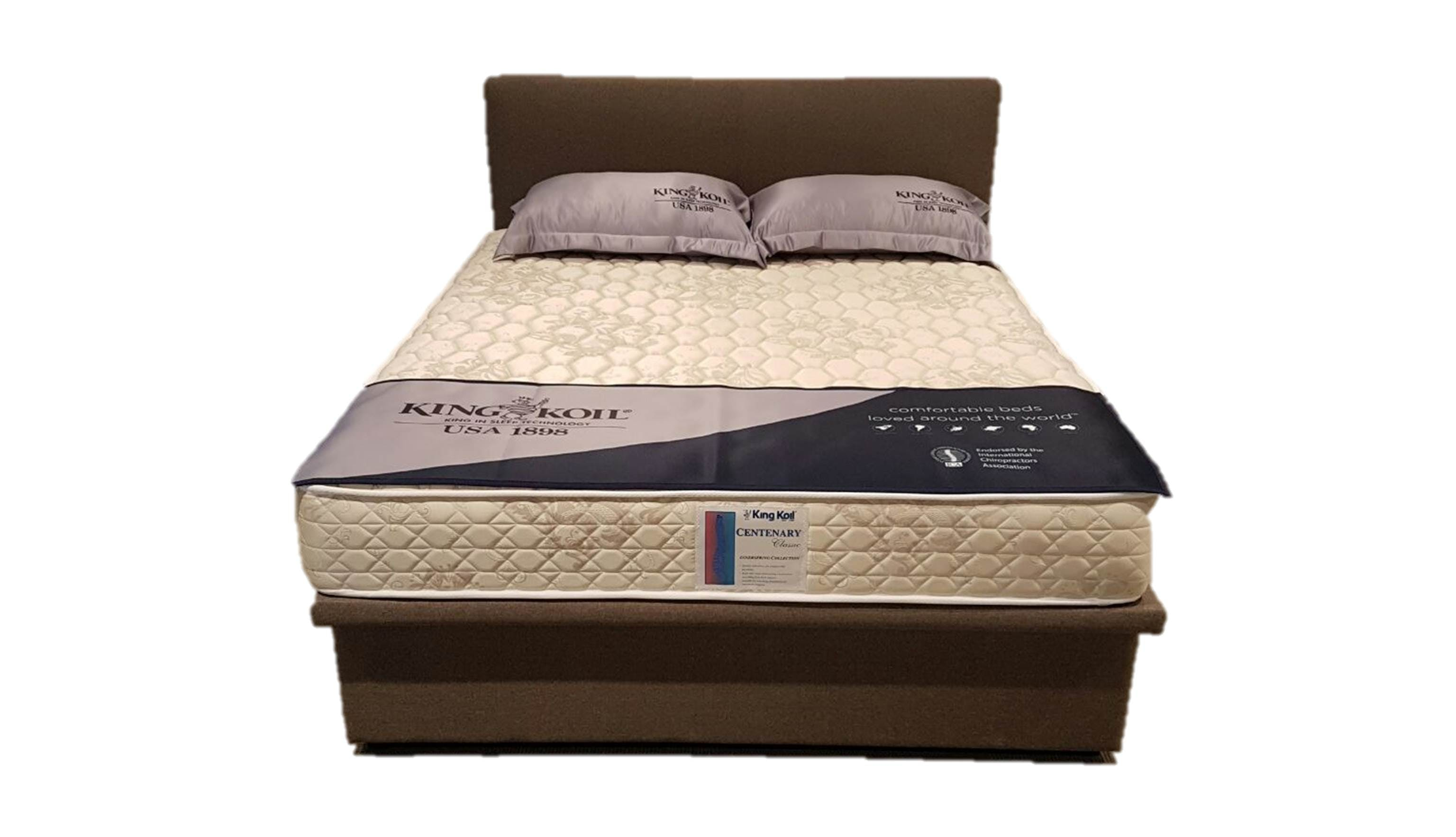 King Koil Centenary Classic Queen Size Spring Mattress with Free EE ...