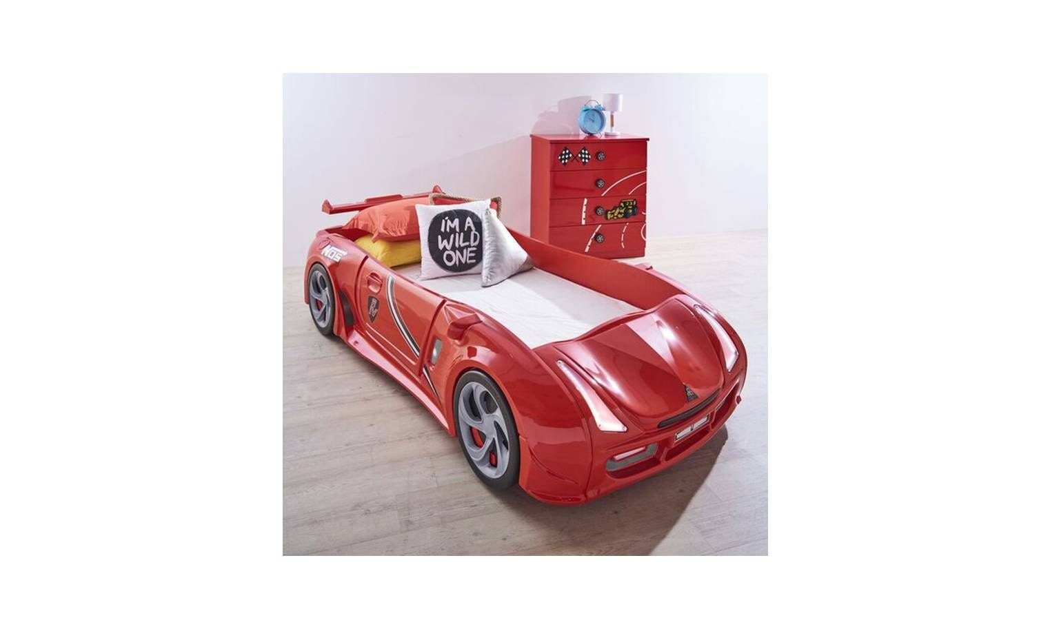 Pro Car Red Bed Frame - Single Size-01