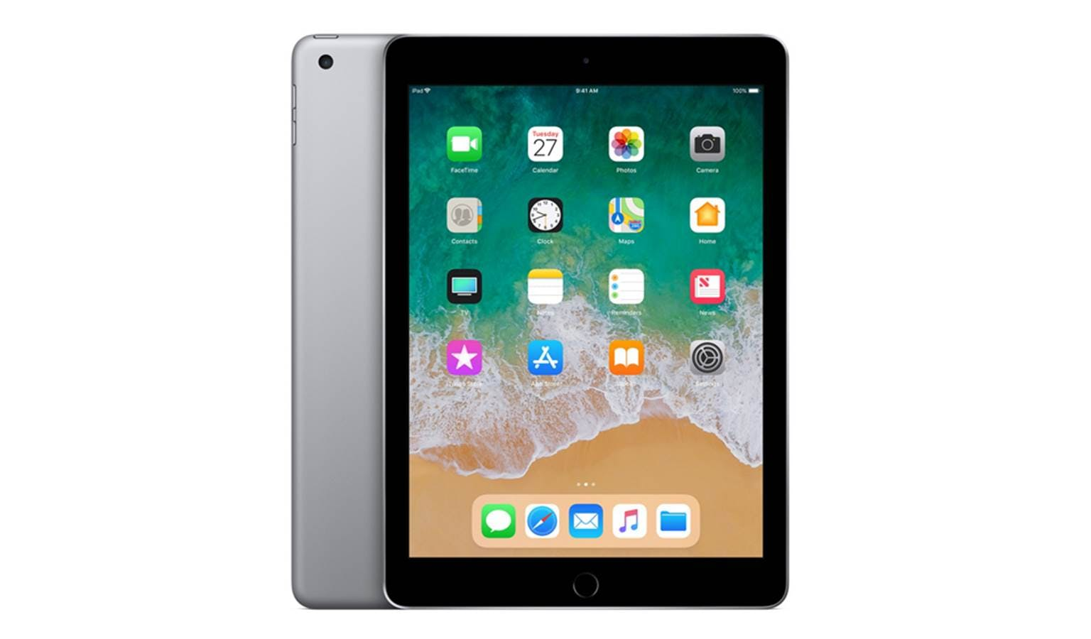 apple ipad 9 7 6th generation wi fi 128gb space grey. Black Bedroom Furniture Sets. Home Design Ideas