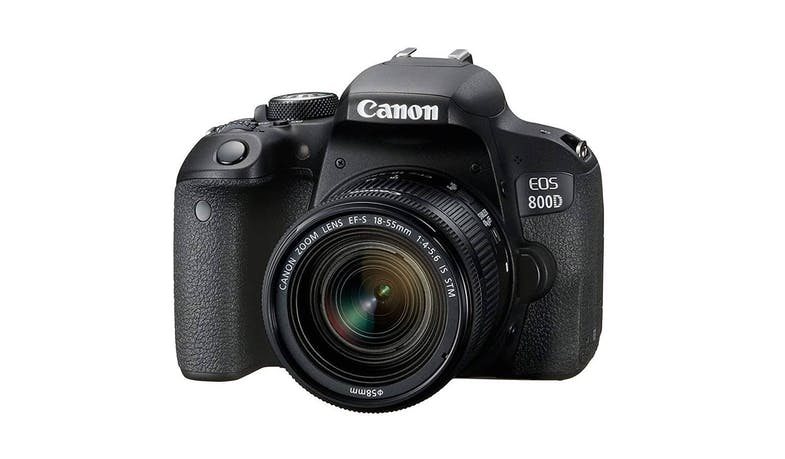 Canon EOS-800D DSLR Camera with 18-55mm Lens Kit - facing left