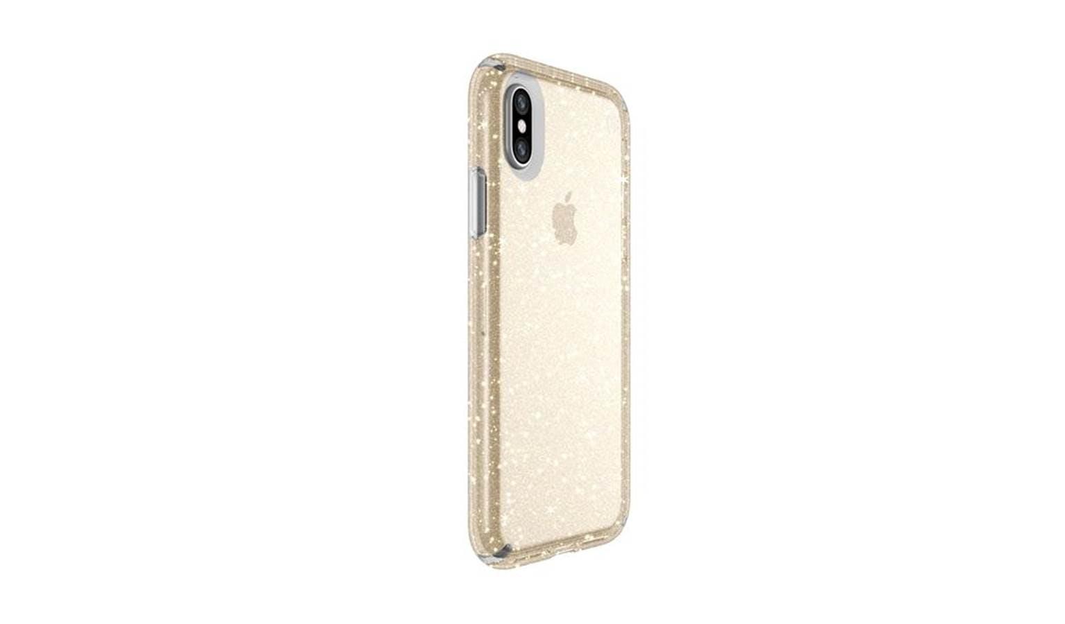 huge discount bf954 56086 Speck Presidio iPhone X Phone Case - Clear / Gold Glitter