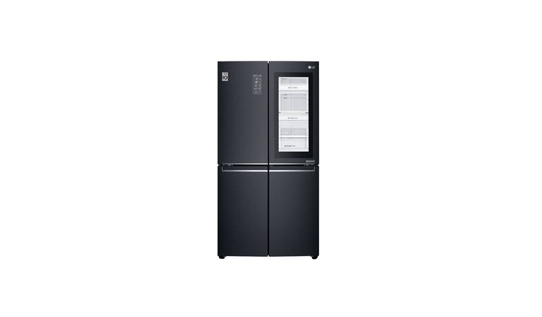 LG GS-X6018MT (601L) InstaView Side-by-Side Refrigerator - Matt Black (Front View)