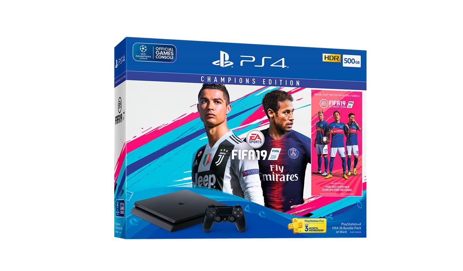 Sony Plas 10252hc Playstation4 Fifa 19 500gb Bundle Pack Harvey Ps4 Gold Edition