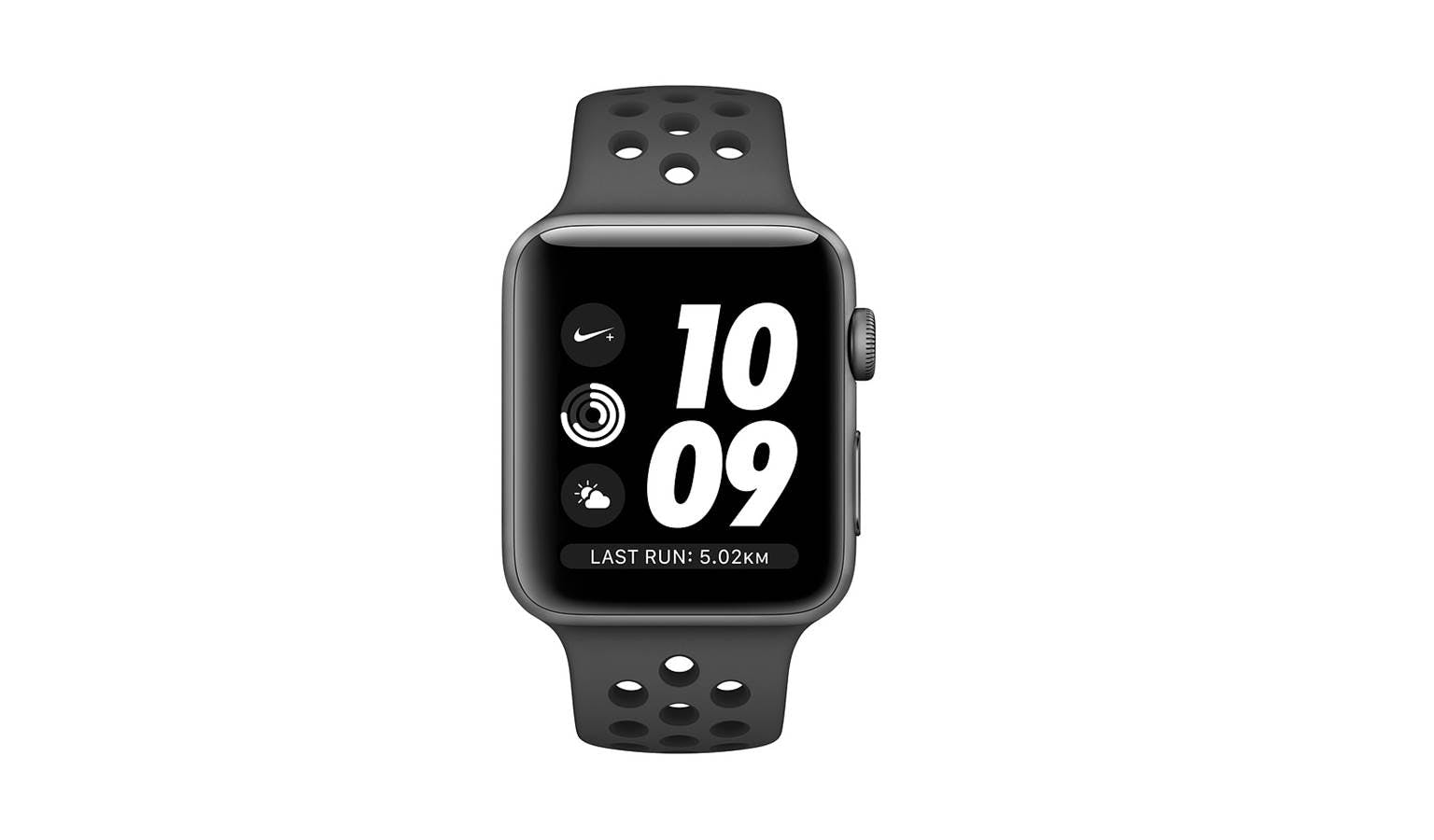 3c4128cc87d76a Apple Watch Series 3 Nike+ MTF12 (GPS) 38mm - Space Grey Aluminium Case  with Anthracite Black Nike Sport Band