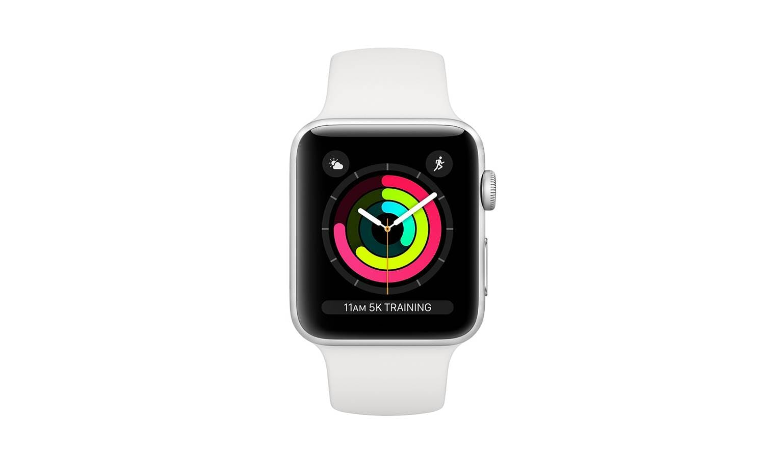 more photos 3e76d d3209 Apple Watch Series 3 MTF22 (GPS) 42mm - Silver Aluminium Case with White  Sport Band