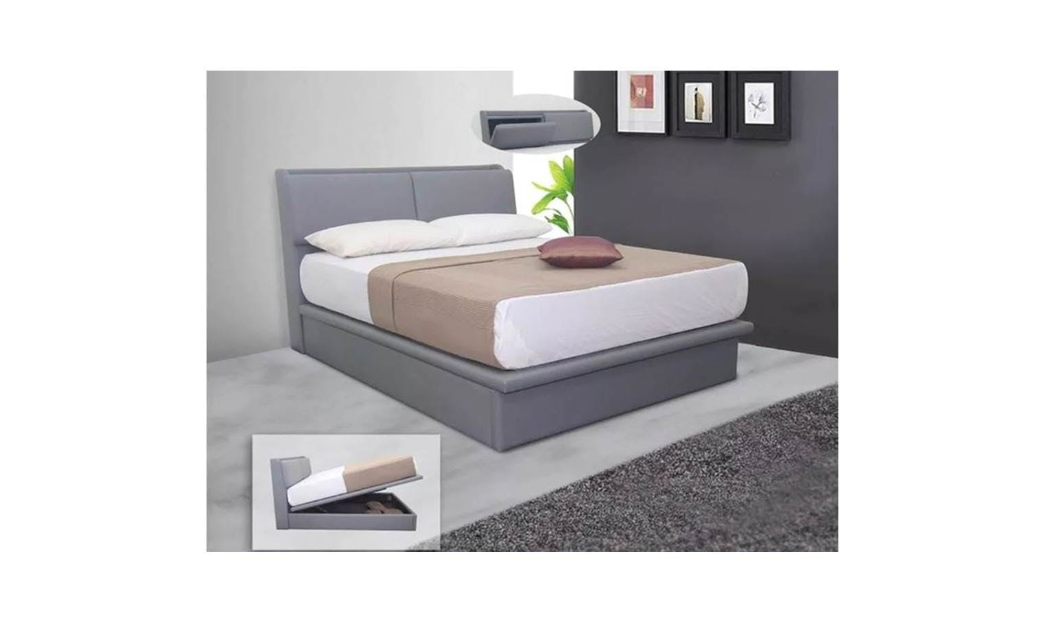 Cobar Storage Bedframe Queen Size Harvey Norman Singapore