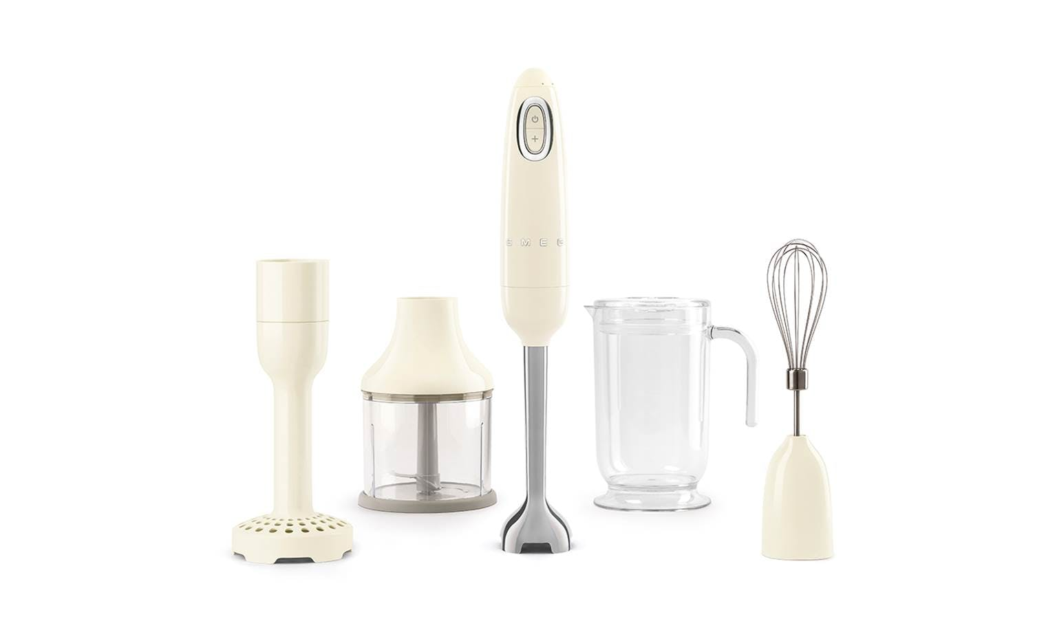 Smeg Hbf02cruk 50 S Retro Style Aesthetic Hand Blender With Accessories Cream