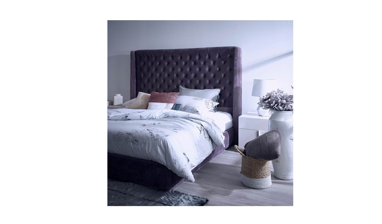 Solace Bed Frame In Warwick Fabric Upholstery King Size
