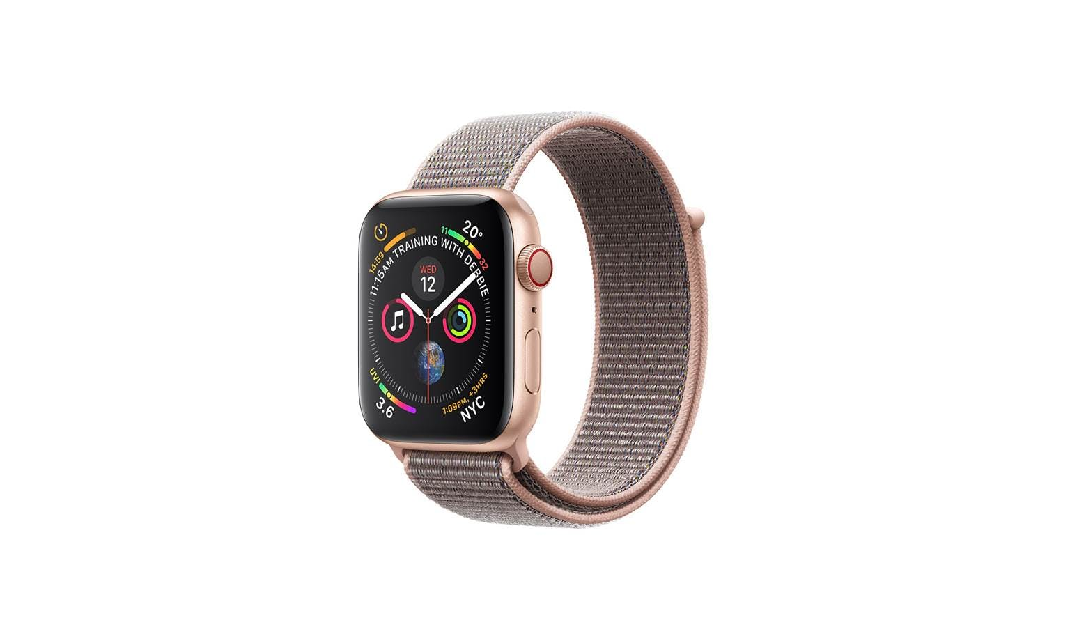 on sale 5febd 844b1 Apple Watch Series 4 MTVH2 (GPS + Cellular) 40mm - Gold Aluminium Case with  Pink Sand Sport Loop