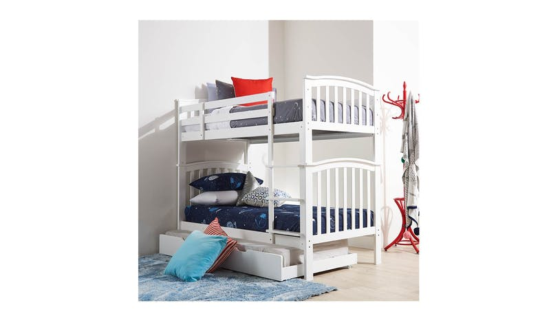Athens Bunk Bed - Single Size (Option to purchase Pullout Bed)