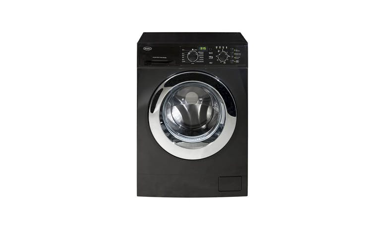 EuropAce EFW8100 10kg Front Load Washing Machine - Black-01