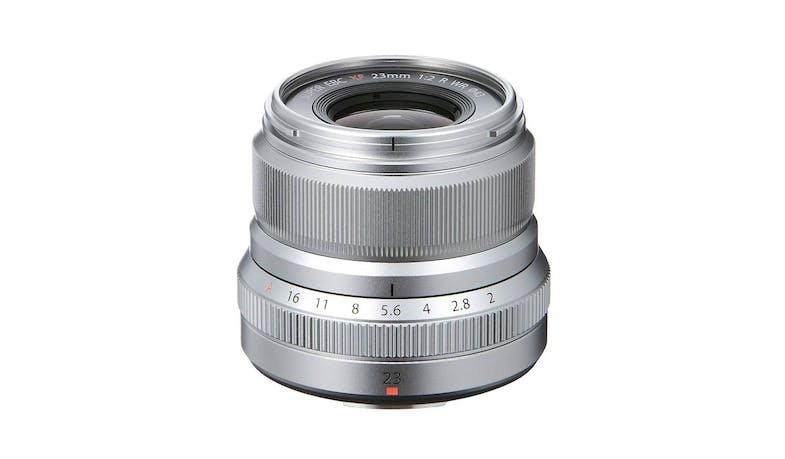 Fujifilm XF 23mm F2 R WR Compact Wide-Angle Lens - Silver