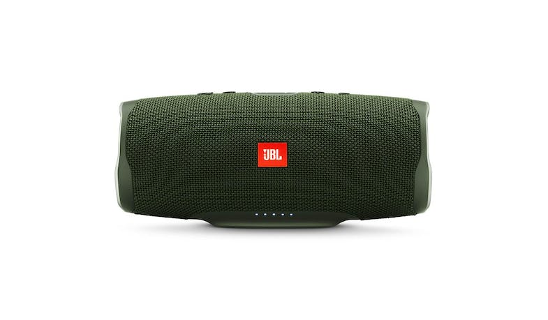 JBL Charge 4 Portable Bluetooth Speaker - Green (Front)