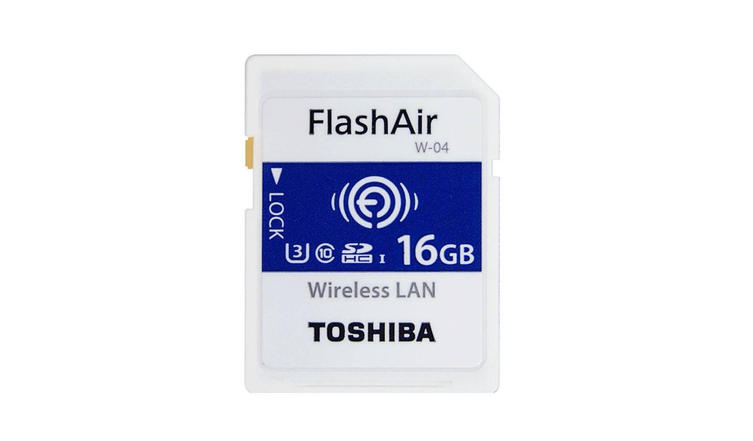 Toshiba FlashAir W-04 C10 SDHC 16 GB Memory Card - White