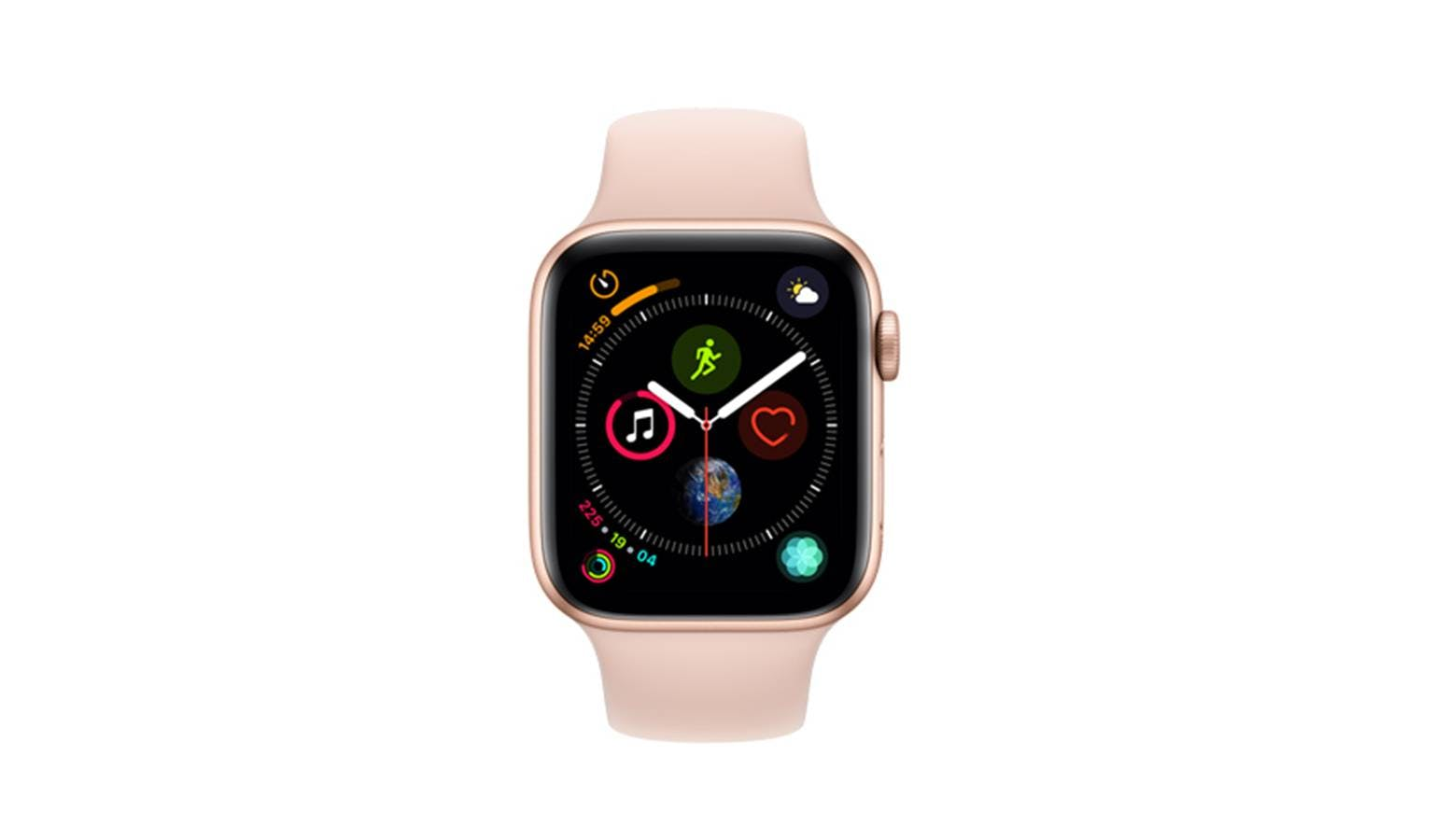 the best attitude f3b64 2198f Apple Watch Series 4 44mm Gold Aluminum Case with Pink Sand Sport Band